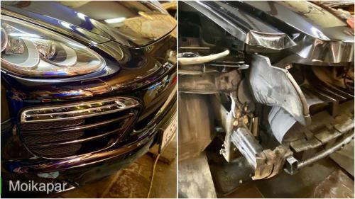 Бронирование бампера с подгибкой Porsche Cayenne