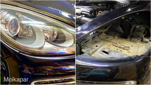 Бронирование фар Porsche Cayenne