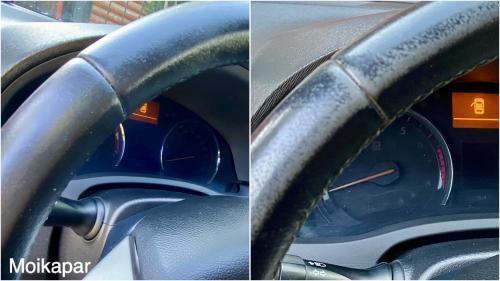 Восстановление кожанного салона и восстановление рулевого колеса