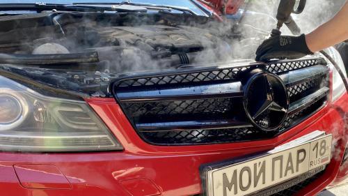 Мойка радиатора Mercedes